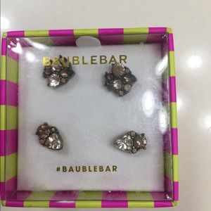 Baublebar earrings 2 pair New in Box